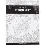 Word Art - Creative Zen Coloring Book