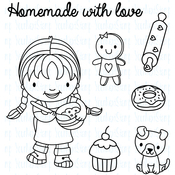"""Ellie Loves To Bake - Your Next Stamp Clear Stamps 4""""X4"""""""