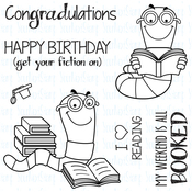 """Get Your Fiction On - Your Next Stamp Clear Stamps 4""""X4"""""""