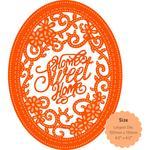 Home Sweet Home Oval Frame - Tonic Studios Sew Pretty Die