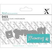Memories Sentiment - Xcut Mini Decorative Dies 2/Pkg