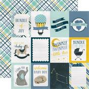 3x4 Journaling Cards - Rock-A-Bye Baby Boy - Carta Bella