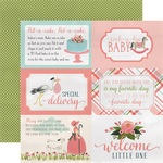 4 x 6 Journaling Paper - Rock-A-Bye Baby Girl - Carta Bella