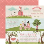 Girl Nursery Rhymes Paper - Rock-A-Bye Baby Girl - Carta Bella