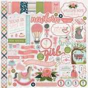 Rock-A-Bye Baby Girl Sticker Sheet - Carta Bella
