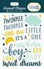 Rock-A-Bye Baby Boy Enamel Shapes - Carta Bella