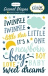 Rock-A-Bye Baby Boy Enamel Shapes - Carta Bella