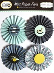 Rock-A-Bye Baby Boy Mini Paper Fans - Carta Bella