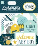 Rock-A-Bye Baby Boy Ephemera Frames & Tags - Carta Bella