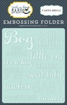 Little One Boy Embossing Folder - Carta Bella