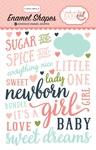 Rock-A-Bye Baby Girl Enamel Shapes - Carta Bella