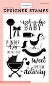 Rock-A-Bye Baby Stamp - Carta Bella