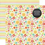 May Flowers Glossy Accented Paper - Echo Park