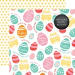 Colored Eggs Glossy Accented Paper - Celebrate Easter - Echo Park