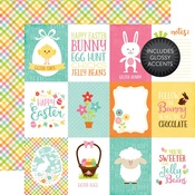 3 x 4 Journaling Card Glossy Accented Paper - Celebrate Easter - Echo Park