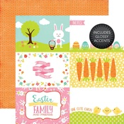 4 x 6 Journaling Card Glossy Accented Paper - Celebrate Easter - Echo Park