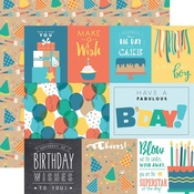 Journaling Card Paper - Birthday Boy - Echo Park