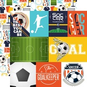 Journaling Card Paper - Soccer - Echo Park