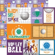 Journaling Card Paper - Volleyball - Echo Park