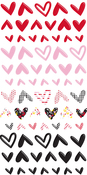 Sweet Nothings Puffy Heart Stickers - Fancy Pants