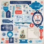Seafarer Details Sticker Sheet - Authentique