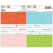 The Mix No 1 Phrases Sticker Sheet - Pinkfresh