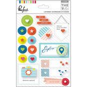 The Mix No 1 Layered Chipboard Stickers - Pinkfresh