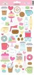 Cream & Sugar Icon Stickers - Doodlebug