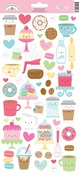Cream & Sugar Icon Stickers - Doodlebug