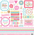 Cream & Sugar This & That Sticker Sheet - Doodlebug