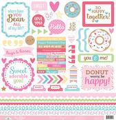 Cream & Sugar This & That Sticker Sheet - Doodlebug