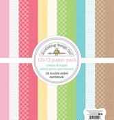 Cream & Sugar Petite Print Assortment Paper Pack - Doodlebug