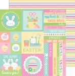 Springtime Stripe Paper - Easter Express - Doodlebug
