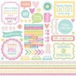 Spring Things This & That Sticker Sheet - Doodlebug