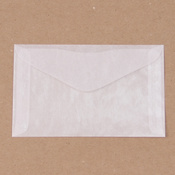 "Glassine Envelopes, 3.5"" x 6"", 8/pk"