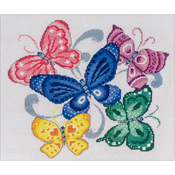 "9.25""X10"" 14 Count - Spring Butterflies Counted Cross Stitch Kit"