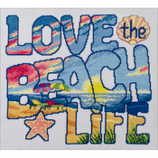 "10""X11.5"" 14 Count - Love The Beach Life Counted Cross Stitch Kit"