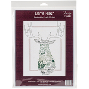 "9""X12.25"" 14 Count - Let's Hunt Counted Cross Stitch Kit"