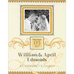 "9""X12"" 14 Count - Elegant Flourish Wedding Record Counted Cross Stitch Kit"