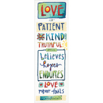 """6""""X18"""" 14 Count - Love Is Counted Cross Stitch Kit"""