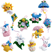 Easter Ornaments Set Felt Applique Kit