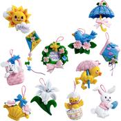 Easter Ornaments Set Felt Applique Kit