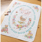 Sweet Baby Crib Cover Stamped Cross Stitch Kit