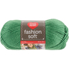 Kelly Green - Red Heart Fashion Soft Yarn Red Heart-Fashion Soft Yarn. The same Soft premium acrylic yarn you already love in a 3-ply light weight yarn great for projects that call for a lighter weight yarn. Weight Category: 3. Content: 100% Acrylic. Putup: 5oz/141g, 381yd/348m. Gauge: 25sx29r = 4in/10cm on size US6/6mm knitting needles. Suggested crochet hook size USg/4mm. Dyelotted: we try but are not always able to match dyelots. Care: machine wash, machine dry, do not iron, do not bleach, dry clean using P solvents. Comes in a variety of colors. Each sold separately. Imported.