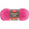 Bright Pink - Red Heart Fashion Soft Yarn Red Heart-Fashion Soft Yarn. The same Soft premium acrylic yarn you already love in a 3-ply light weight yarn great for projects that call for a lighter weight yarn. Weight Category: 3. Content: 100% Acrylic. Putup: 5oz/141g, 381yd/348m. Gauge: 25sx29r = 4in/10cm on size US6/6mm knitting needles. Suggested crochet hook size USg/4mm. Dyelotted: we try but are not always able to match dyelots. Care: machine wash, machine dry, do not iron, do not bleach, dry clean using P solvents. Comes in a variety of colors. Each sold separately. Imported.