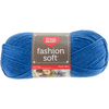 Cobalt - Red Heart Fashion Soft Yarn Red Heart-Fashion Soft Yarn. The same Soft premium acrylic yarn you already love in a 3-ply light weight yarn great for projects that call for a lighter weight yarn. Weight Category: 3. Content: 100% Acrylic. Putup: 5oz/141g, 381yd/348m. Gauge: 25sx29r = 4in/10cm on size US6/6mm knitting needles. Suggested crochet hook size USg/4mm. Dyelotted: we try but are not always able to match dyelots. Care: machine wash, machine dry, do not iron, do not bleach, dry clean using P solvents. Comes in a variety of colors. Each sold separately. Imported.
