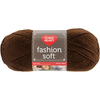 Chocolate - Red Heart Fashion Soft Yarn Red Heart-Fashion Soft Yarn. The same Soft premium acrylic yarn you already love in a 3-ply light weight yarn great for projects that call for a lighter weight yarn. Weight Category: 3. Content: 100% Acrylic. Putup: 5oz/141g, 381yd/348m. Gauge: 25sx29r = 4in/10cm on size US6/6mm knitting needles. Suggested crochet hook size USg/4mm. Dyelotted: we try but are not always able to match dyelots. Care: machine wash, machine dry, do not iron, do not bleach, dry clean using P solvents. Comes in a variety of colors. Each sold separately. Imported.