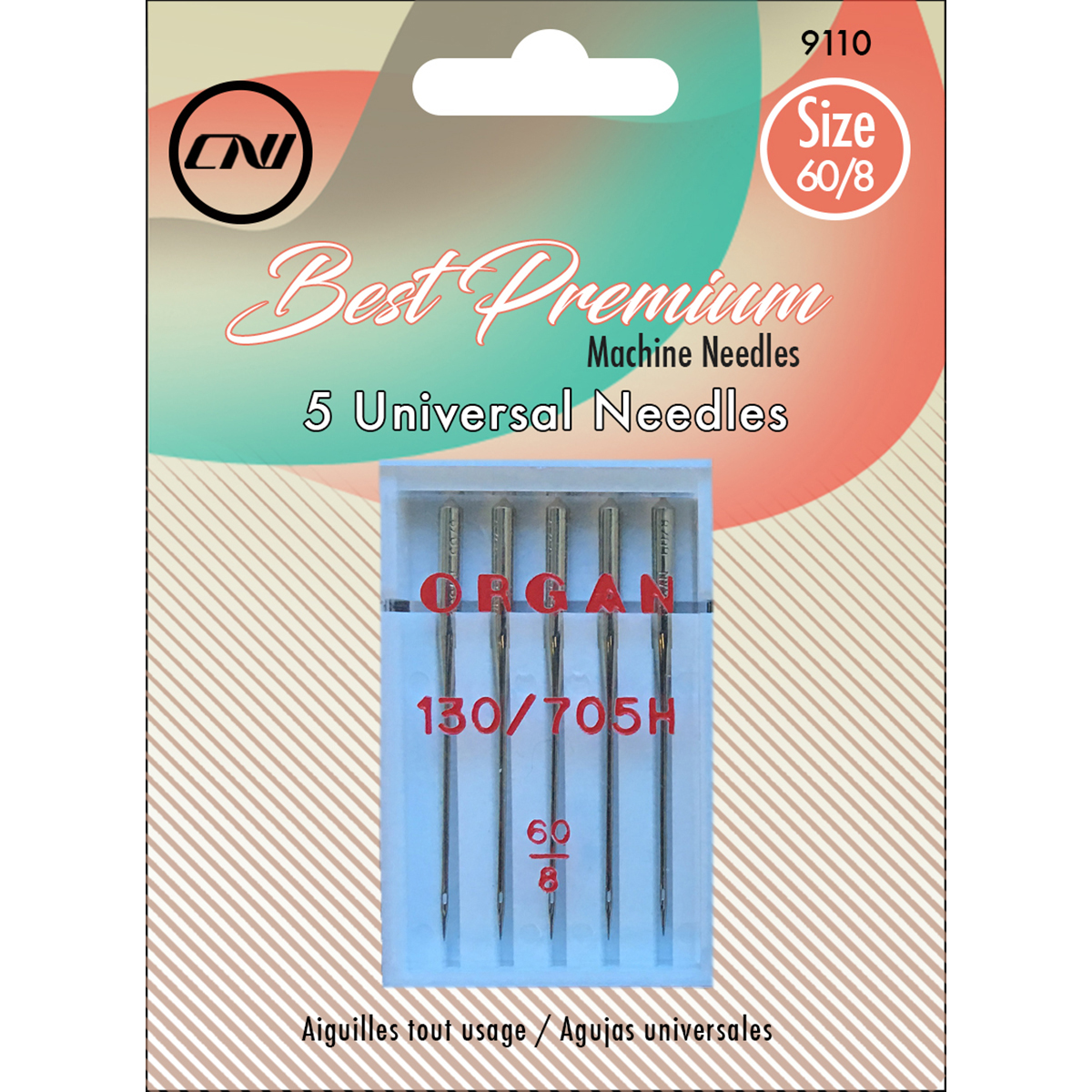 Size 60/8 - Universal Sewing Machine Needles 5/Pkg