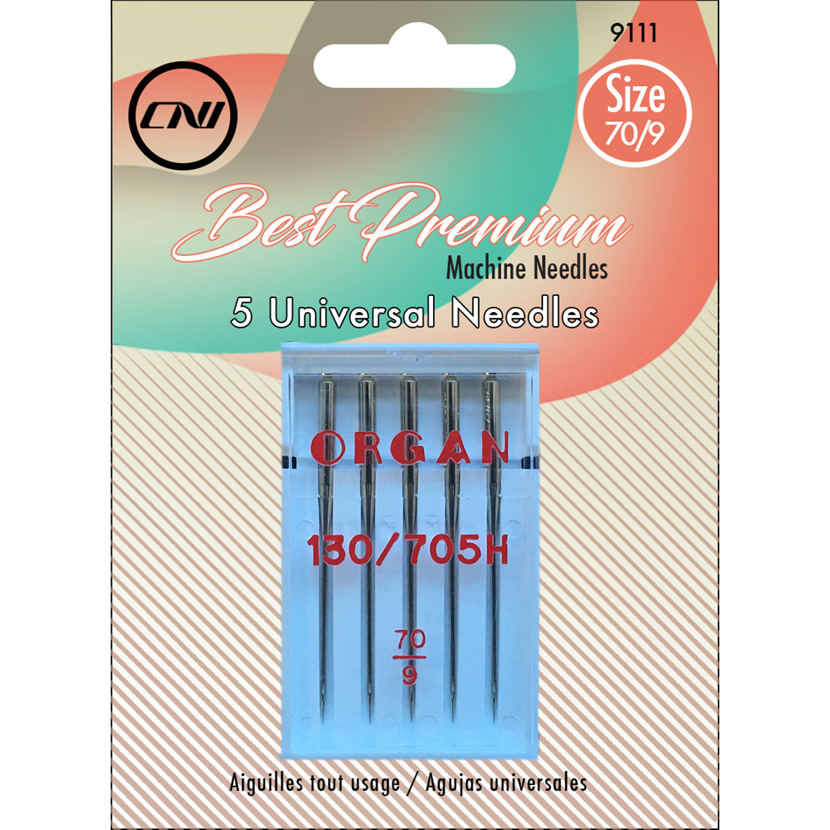 Size 70/9 - Universal Sewing Machine Needles 5/Pkg