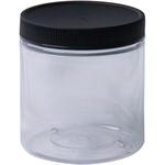 Clear - Jacquard Empty Wide Mouth Plastic Jar 8oz